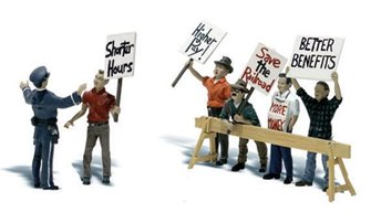 Woodland Scenics WA2197 N Gauge Figures - Picket Line