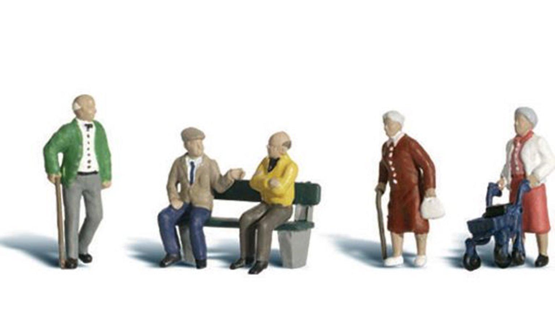 Woodland Scenics WA2201 N Gauge Figures - Senior Citizens