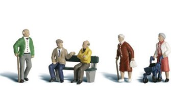 Woodland Scenics WA2201 N Gauge Figures - Senior Citizens