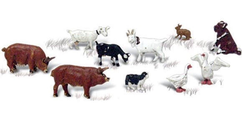 Woodland Scenics WA2202 N Gauge Figures - Barnyard Animals