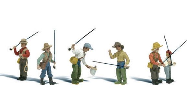 Woodland Scenics WA2215 N Gauge Figures - Fly Fishermen